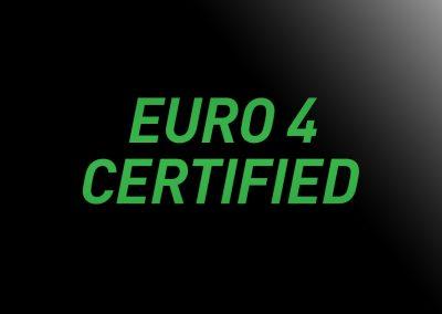 EURO4 Certified