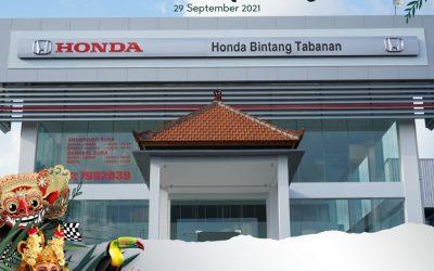 Selamat Atas Grand Opening Honda Bintang Tabanan
